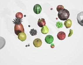 3D model Polygonal fruits