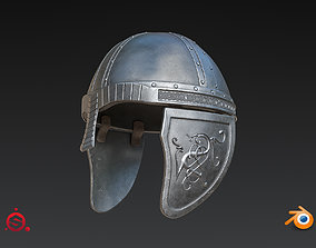 Medieval Helmet High Poly 3D model