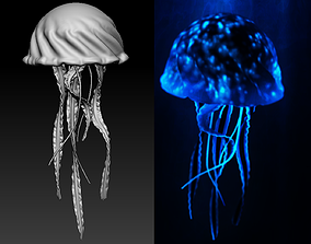 Jellyfish Deep Ocean Creature Base Mesh 3D