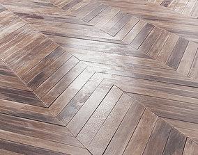 Aged wood parquet 3D