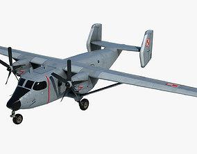 3D model Cargo and passenger plane M-28-Bryza