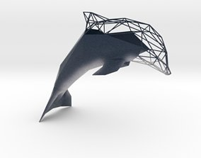3D printable model Semiwire Low Poly Dolphin