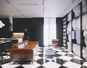Modern style Apartment 6 3D