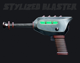 game-ready Stylized scifi Blaster - Game Asset