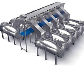 3D model Oxidation Fermentation unit for Food processing