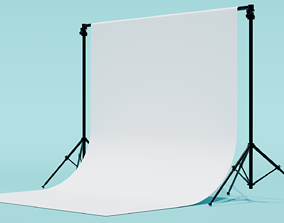 Photography Studio Backdrop with Tripods to showcace a 3D