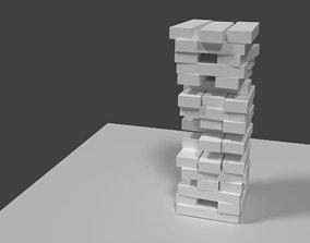 3D printable model Jenga tower