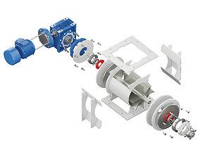 3D model Rotary Feeder - Gate Lock - RP 210 ITALTECH