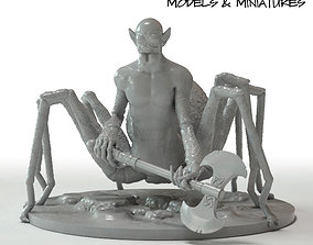 Drider with Axe 3D print model