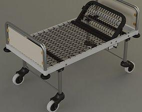 3D model steel hospital bed