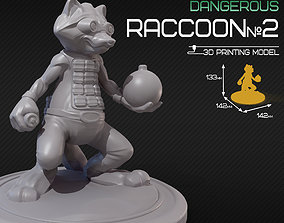 Dangerous raccoon 2 3D print model