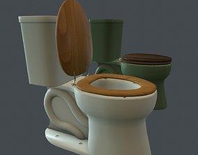 Game Ready Toilet 3D asset