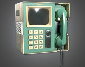Retro Video Phone Midcentury Collection PBR Game 3D model