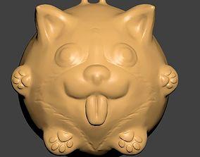 3D printable model Corgi Pendant
