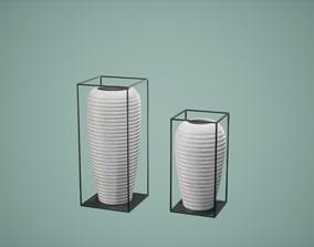 Decor Pot Set Low Poly Game Ready 3D asset realtime
