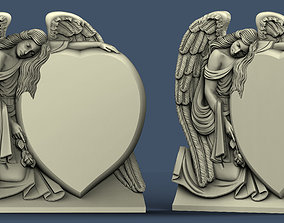 3d STL model for CNC Angel and heart