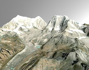 Mountain Valley Nepal 3D model