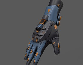Scifi Gloves ver14 3D model