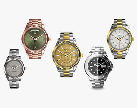 3D model 5 Rolex Luxury Watches Collection