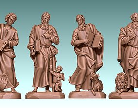 3D print model The Four Evangelist - CNC Rounting - Wood 4