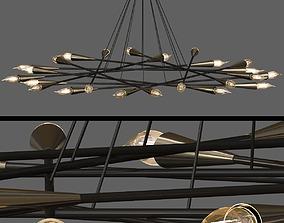 1960S MID CENTURY GRAND SCALED TWENTY FOUR LIGHT 3D