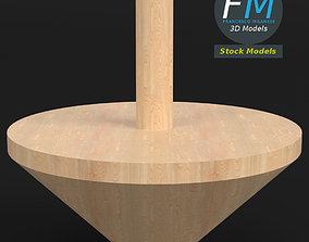 3D Wooden spinning top