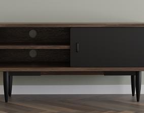 Wooden TV Cabinet 3D model realtime