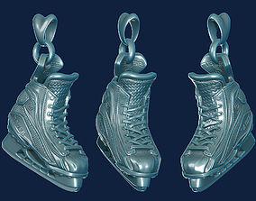 3D printable model hockey skates