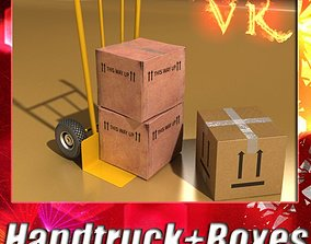 3D Hand Truck boxes
