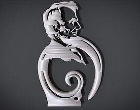 Simple Ornament with Abraham Lincoln motifs 3D print model