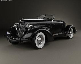 3D model Auburn 851 SC Boattail Speedster 1935