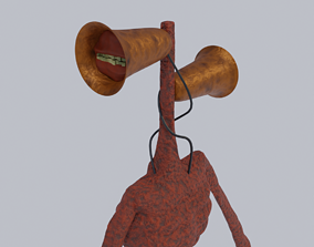 Siren Head 3D model rigged
