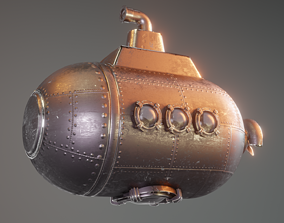 small submarine made in blender 3D model