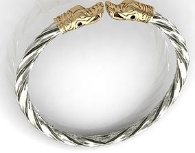 Viking bracelet vintage 3D print model