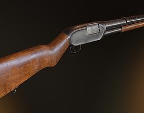 3D asset Winchester M12 Shotgun