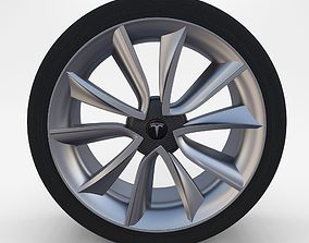 Tesla Model 3 Rim 3D asset