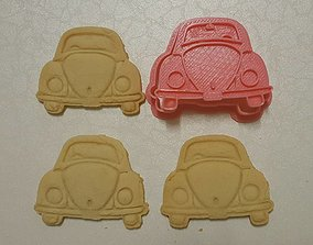 Volkswagen classic car cookie cutter 3D printable model 1