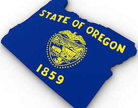 3D Oregon Political Map