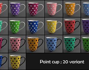 point motif cup 3D asset