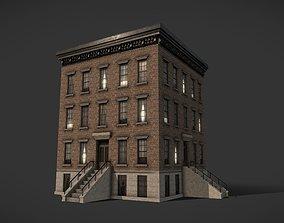 Modular Apartment Building City Game Ready 3D model