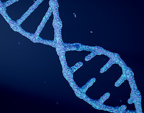 3D Animated DNA model