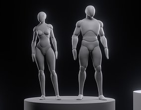Simple rigged for posing 3D model