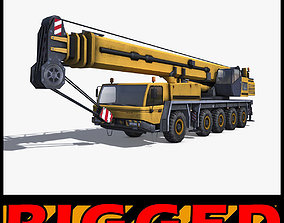 Mobile Crane Rigged 3D asset