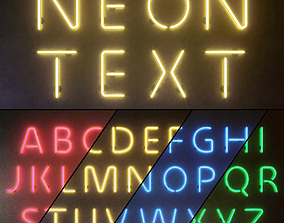 3D Light modules Set 10 Neon Alphabet