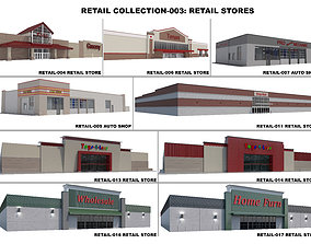 3D Retail Collection-003 Retail Stores