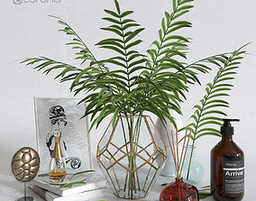 3D model Decorative set with palm tree in a vase