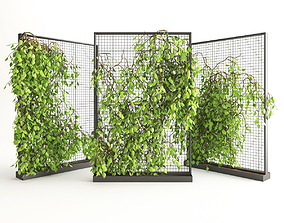 3D model Planter With Plants-Ivy