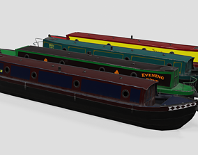 Narrowboat 3D model