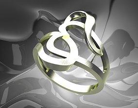 Plain Light Women Ring 3D printable model