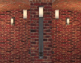Robers Leuchten lamp and cellar room 3D asset